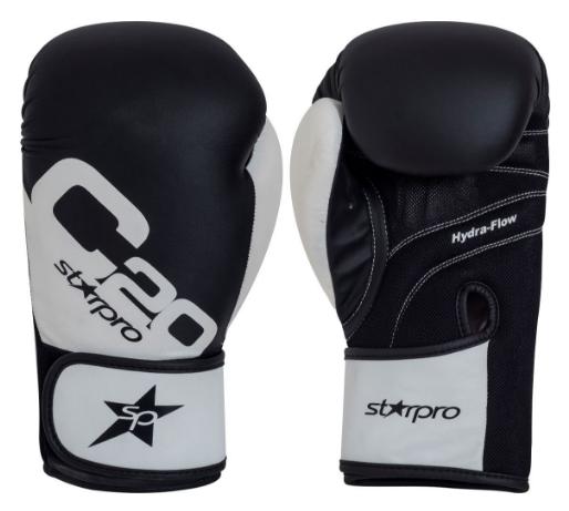 Bokshandschoenen voor trainingen Starpro C20 | zwart-wit