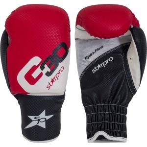 Bokshandschoenen voor kinderen Starpro G30   rood-wit-zwart