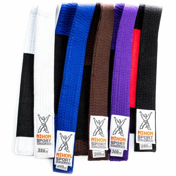 BJJ-belts Nihon for adults   various colors