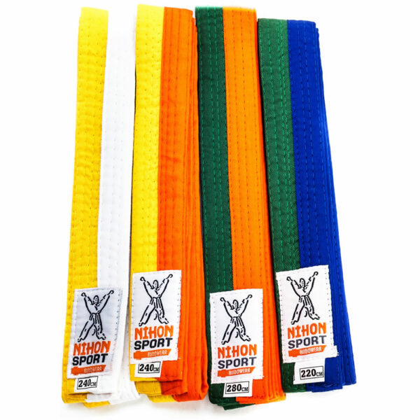 Two-colored judo and karate belt Nihon   firm quality