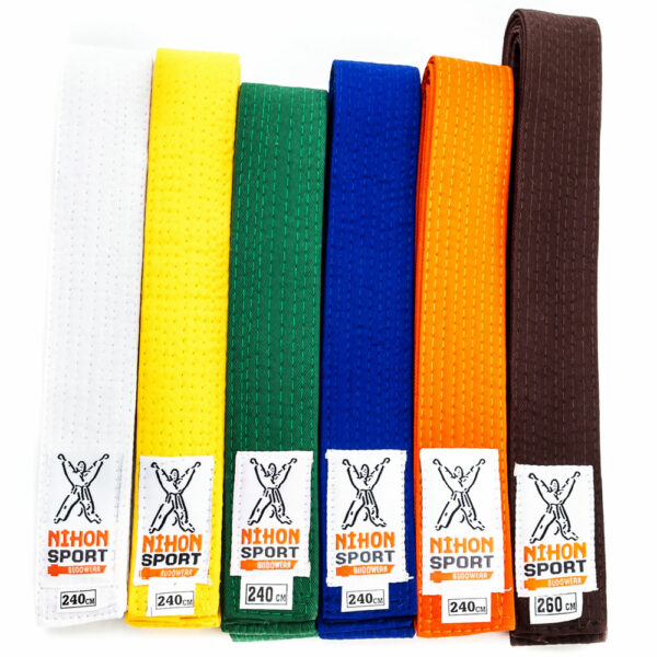Budo- en judo belts Nihon | solid quality | various colors