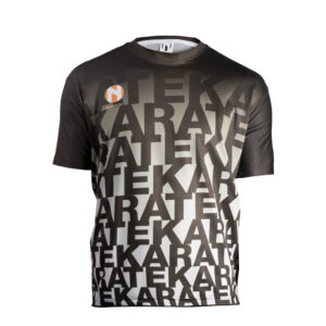 Quick dry sports shirt KARATE Nihon | black gray