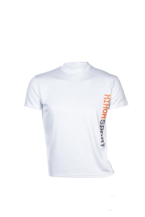 Quick dry training shirt for men Nihon | white