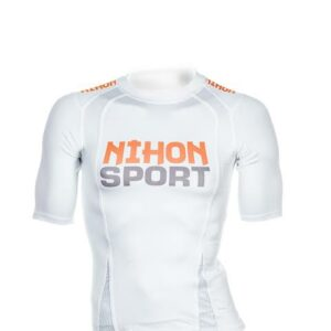 Quick dry unisex mesh training shirt Nihon | white