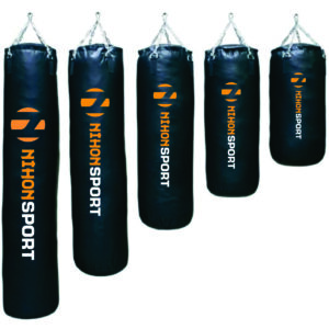 Filled boxing bag Nihon | black