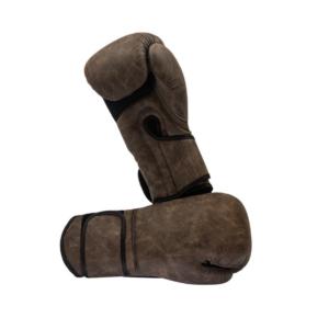 Hybride bokshandschoenen Nihon | semi-leer | bruin gemêleerd